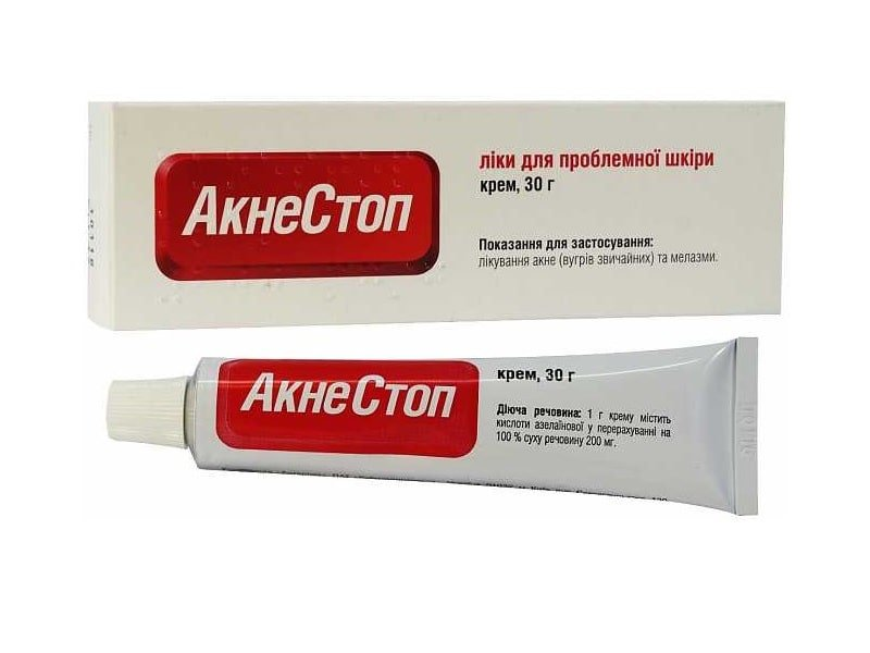 Acnestop (azelaic acid) cream 0.2 g. tube 30 g.