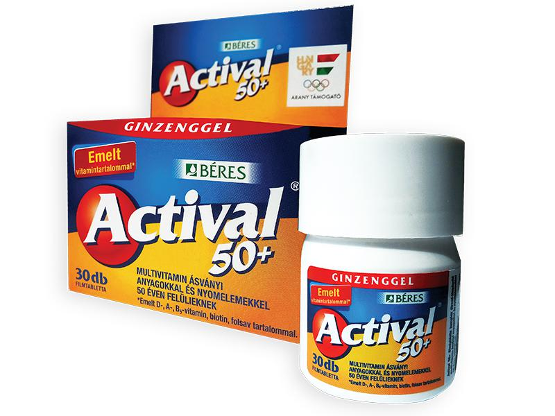 Actival (Vitamin A,B,C D,T,K) 50+ coated tablets №30