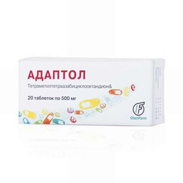 Adaptol (mebikar) tablets 500 mg. №20