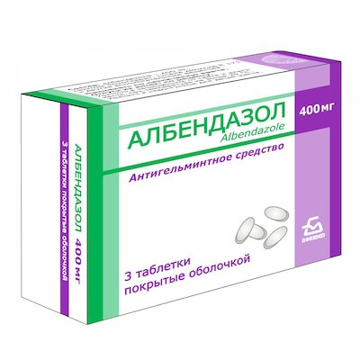 Albendazol (albendazol) chewing tablets 400 mg. №3