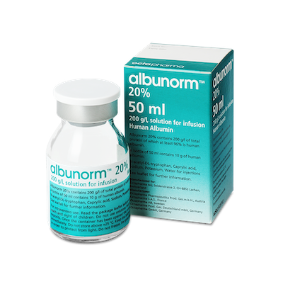 Albunorm 20% solution for infusions 50 ml. №1 vial