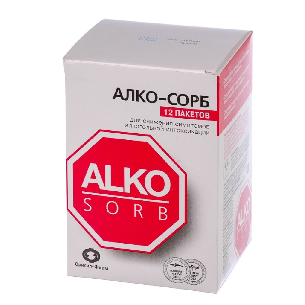 Alco-sorb (succinic acid, silicon dioxide, taurine) sackets 7.5 g. №12 sachet