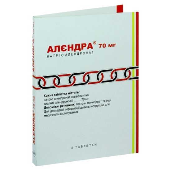 Alendra (alendronic acid) tablets 70 mg. №4