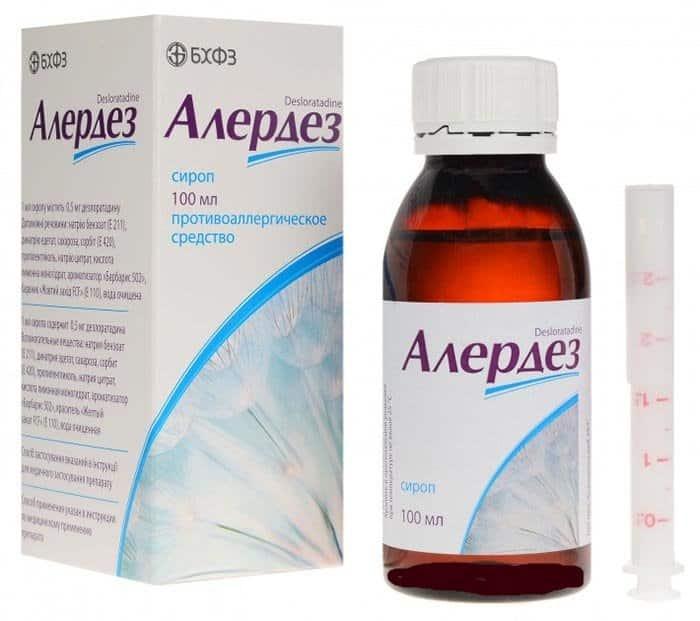 Alerdez (dezloratadin) syrup 0.5 mg/ml. 100 ml. vial