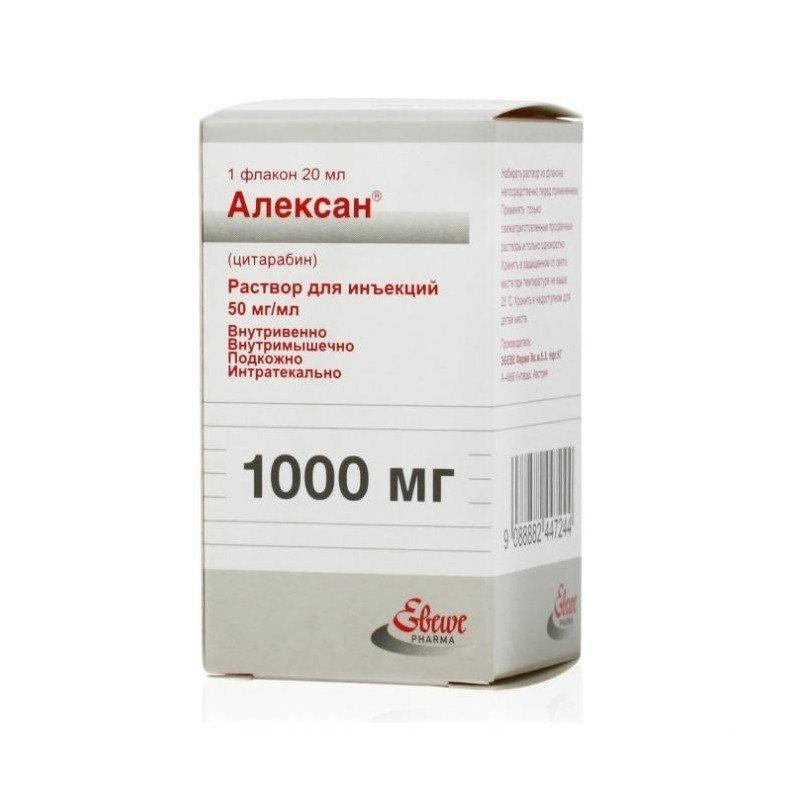 Alexan (cytarabine) solution 50 mg/ml. 20 ml. (1000 mg.) vial №1