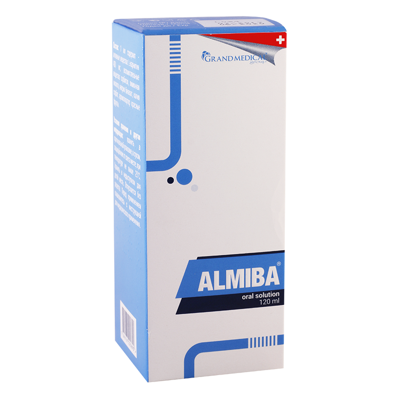 Almiba (L-carnitine) oral solution 120 ml. vial with syringe