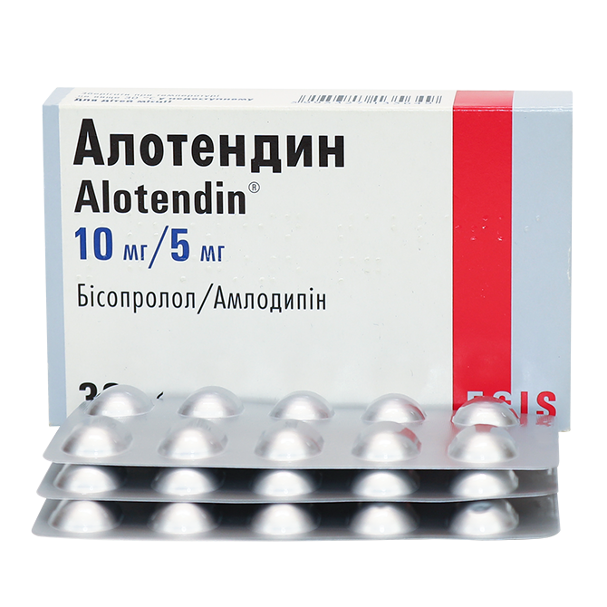 Alotendin (bisoprolol) tablets 10/5 mg. №30