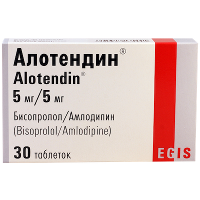 Alotendin (bisoprolol) tablets 5/5 mg. №30