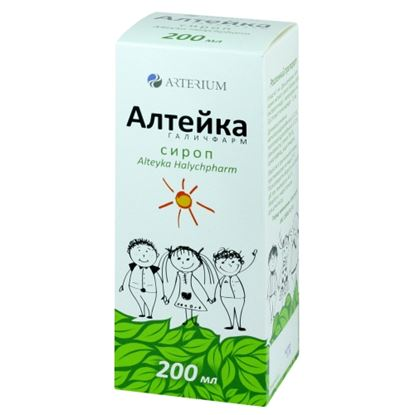 Alteika (foundry root extract dry) syrup 200 ml.