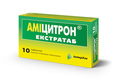 Amicitron (paracetamol) Extratab coated tablets №10