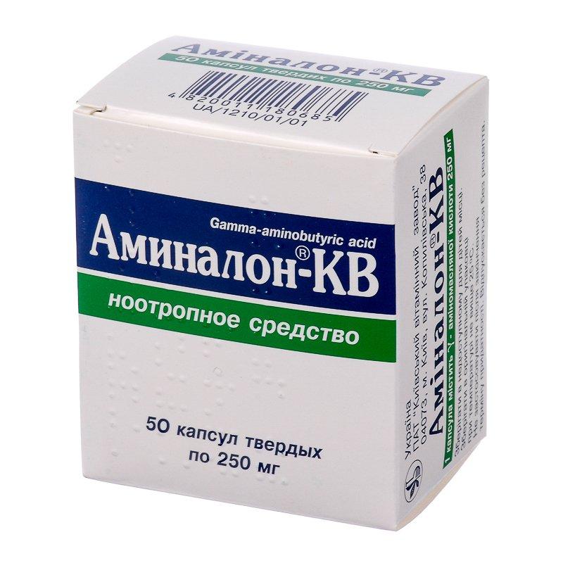 Aminalon (aminolone) capsules 0.25 №50