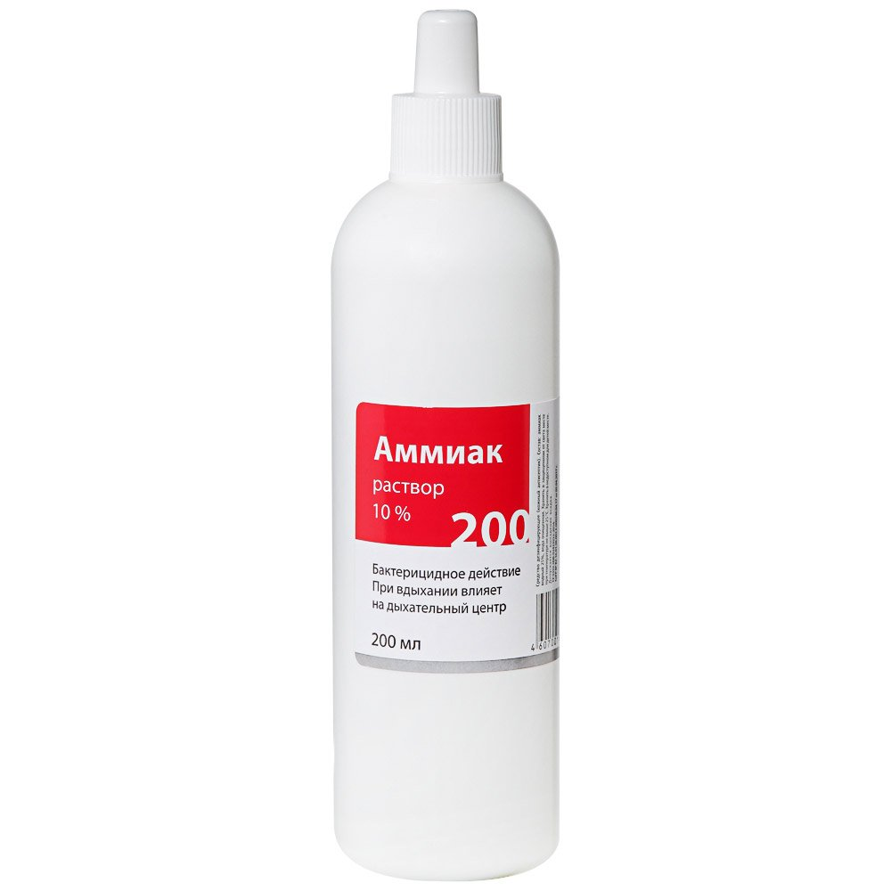 Ammonia solution 10pct 200 ml.