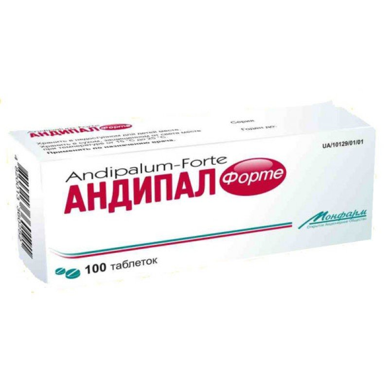 Andipal (metamizole sodium) forte tablets №100