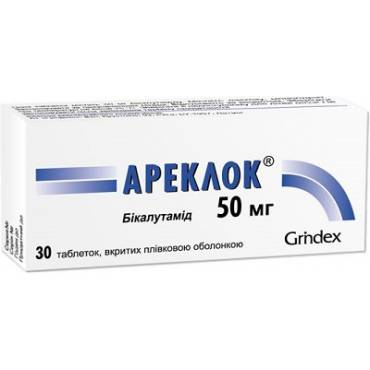 Areclok (bicalutamidum) coated tablets 50 mg. №30