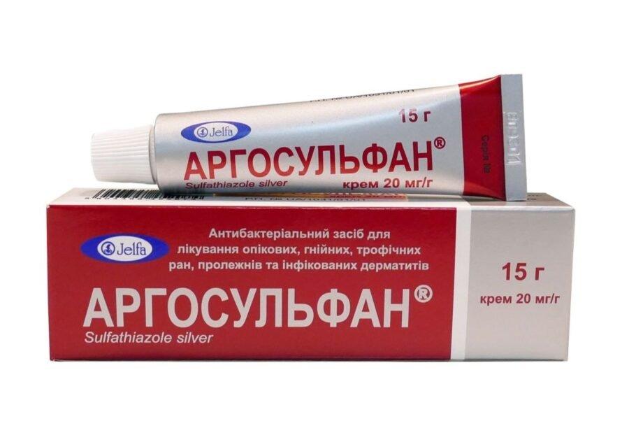 Argosulfan (silver sulphathiazole) cream 2% 15 g.