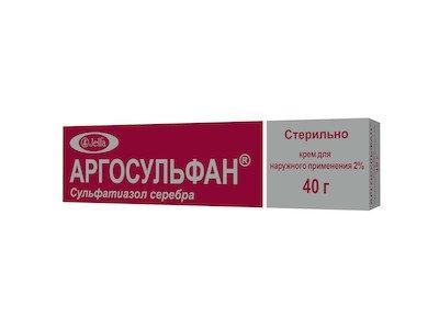 Argosulfan (silver sulphathiazole) cream 2% 40 g.