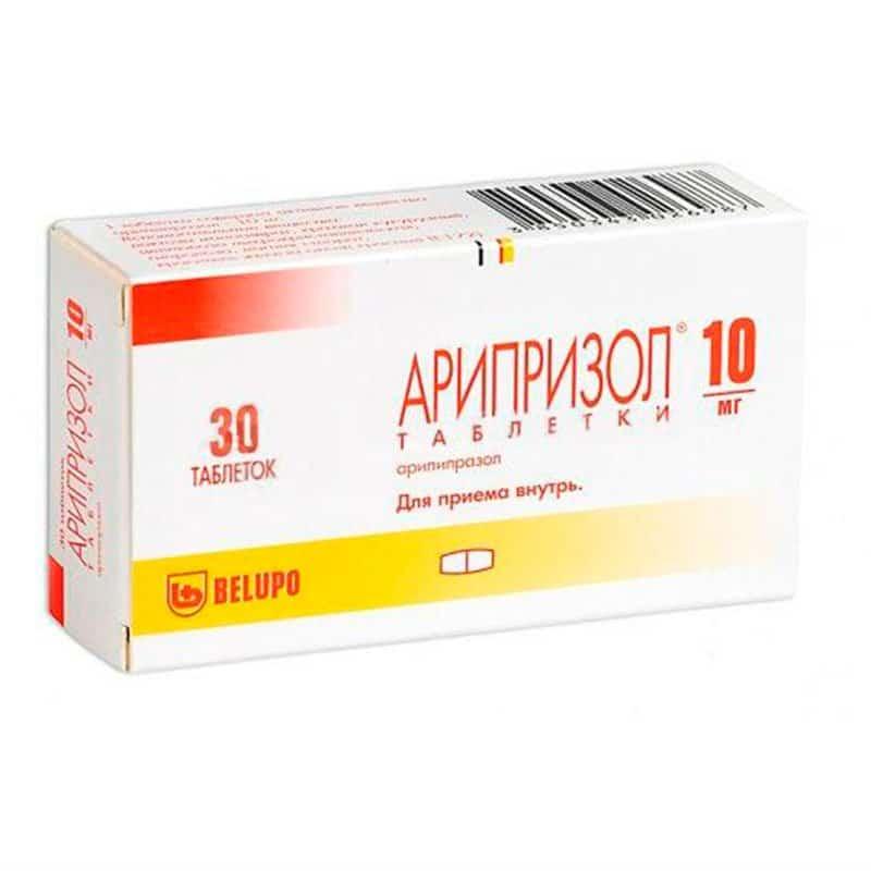 Ariprazol (aripіprazol) tablets 10 mg. №30