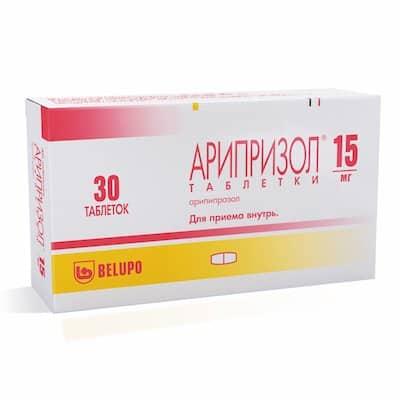 Ariprazol (aripіprazol)tablets 15 mg. №30