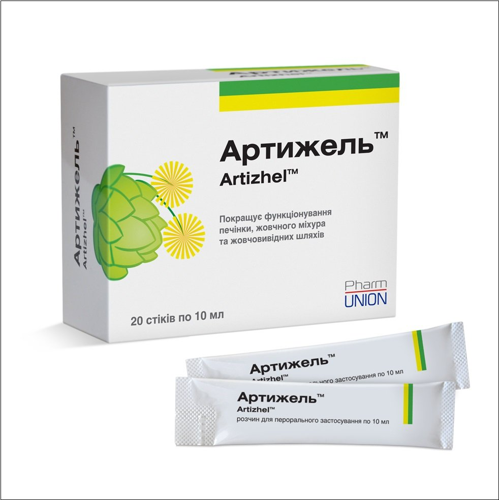 Artijel (artichoke leaf extract) solution for oral use sticks 10 ml. №20