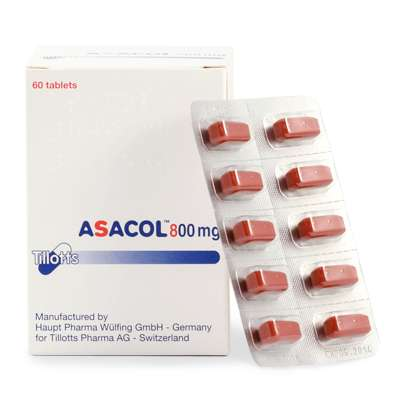 Asacol (mesalazine) coated enteric tablets 800 mg. №60