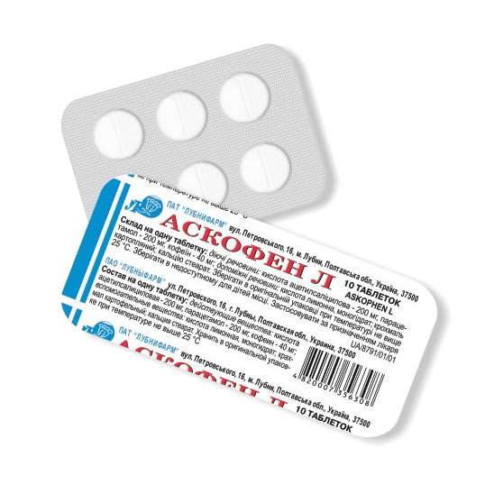 Ascofen L (acetylsalicylic acid) tablets №10