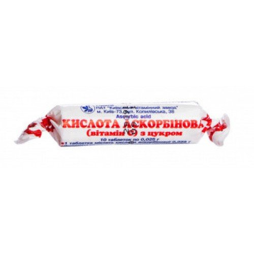 Ascorbic acid (ascorbic acіd) tablets 0.025 №10