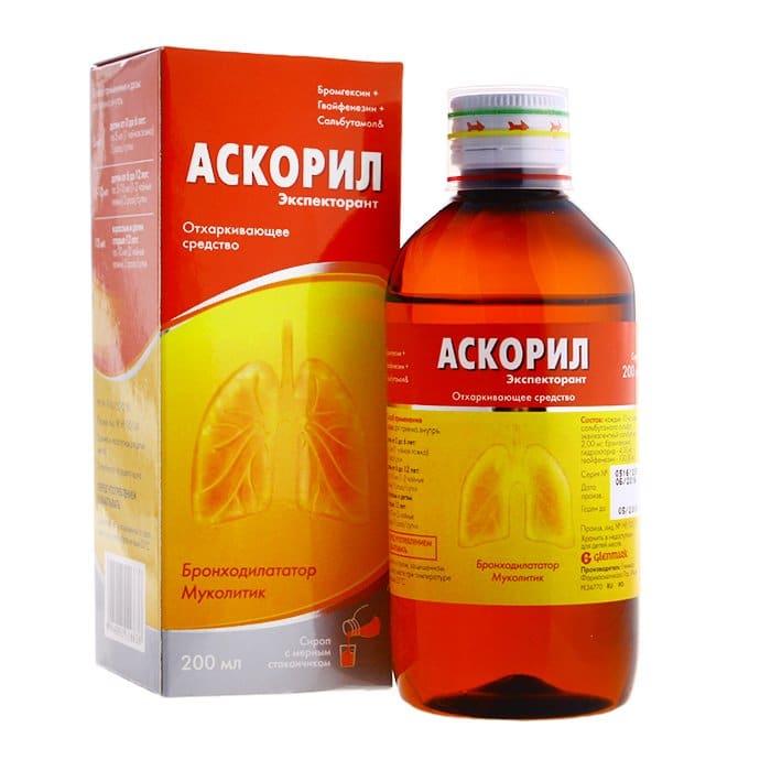 Ascoril (salbutamol sulfate equivalent) cough syrup 200 ml.