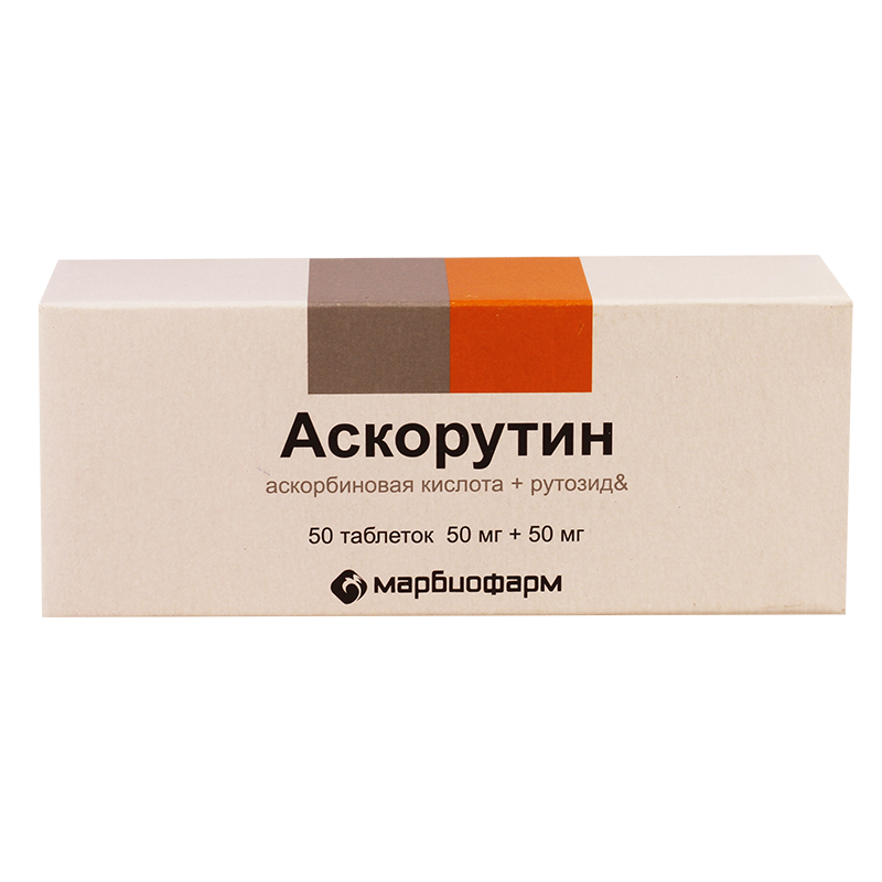Ascorutin (ascorbic acid) tablets №50