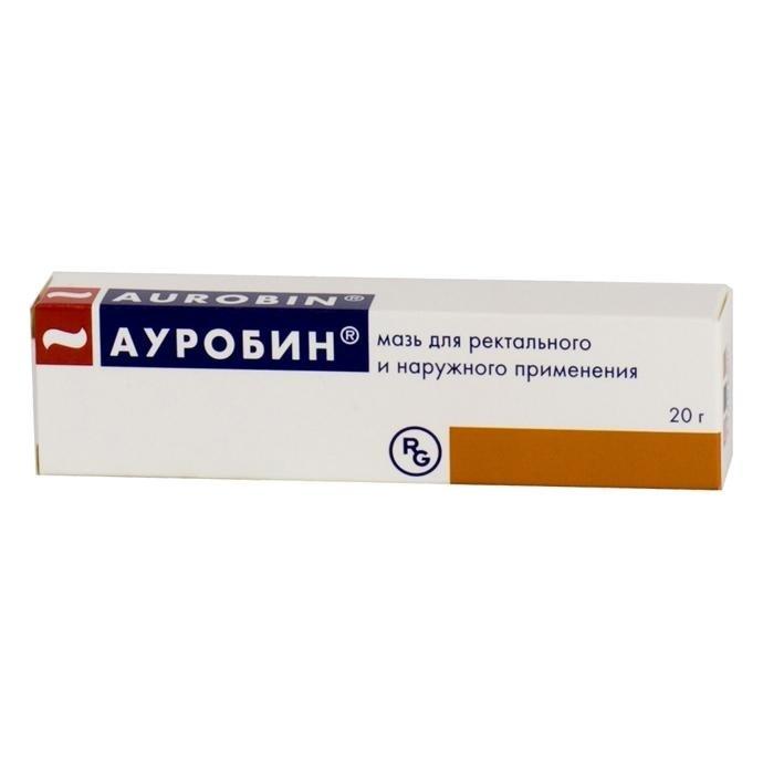 Aurobin (prednisolone capronate) ointment 20 g. tube