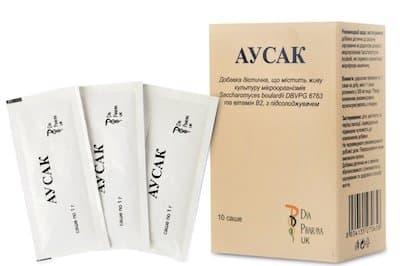 Ausak (microorganism culture Saccharomyces boulardi) sachet №10