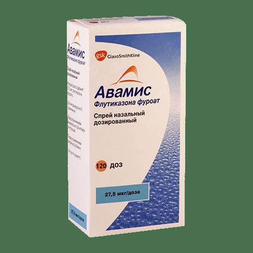 Avamis (fluticasone furoate) nasal spray 27.5 mcg/dose 120 doses №1