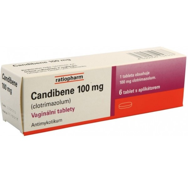 Candibene (clotrimazole) vaginal tablets 100 mg. N6