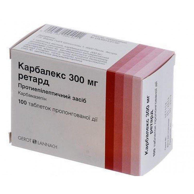 Carbalex (carbamazepine) retard tablets 300 mg. №100