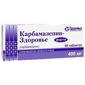 Carbamazepin forte (carbamazepine) tablets 400 mg. №10