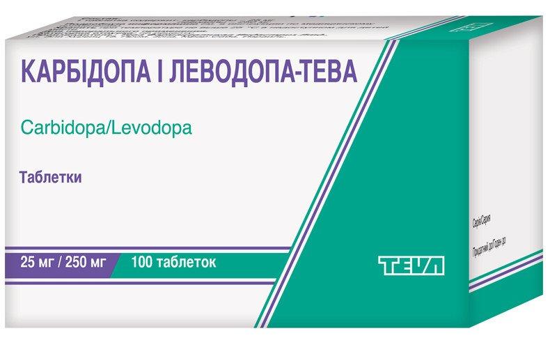 Carbidopa i levodopa (carbidopa) tablets 25 mg/250 mg. №100