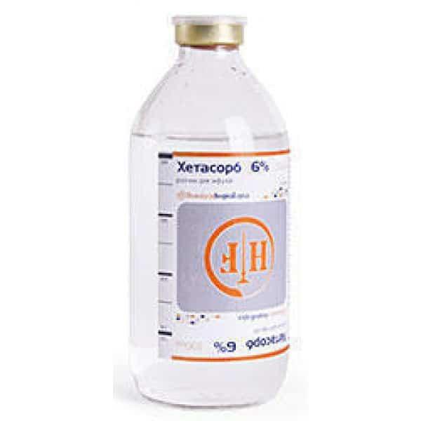 Chetasorb 6% (hydroxyethyl starch, sodium chloride) solution for infusions 500 ml. №1 vial