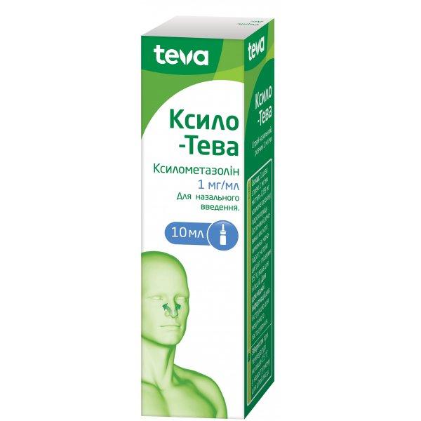 Cilo-TEVA (xylometazoline hydrochloride) nasal spray 1 mg/ml. 10 ml.