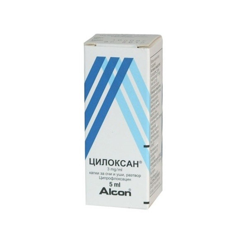 Ciloxan (ciprofloxacin hydrochloride) eye/ear drops 0.35% 5 ml.