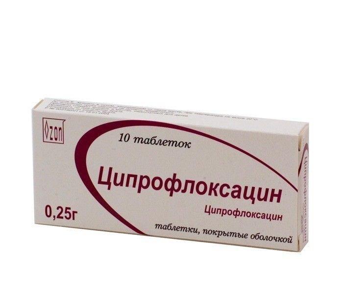 Ciprofloxacin coated tablets 0.25 №10