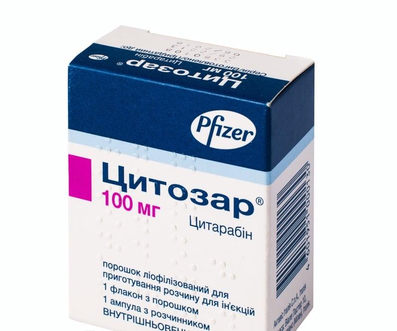 Citozar (cytarabine) powder for solution 100 mg. №1 vial