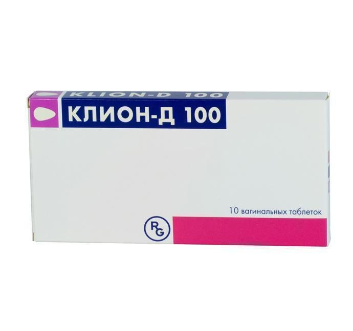 Clion D 100 (metronidazole, miconazole nitrate) vaginal tablets №10