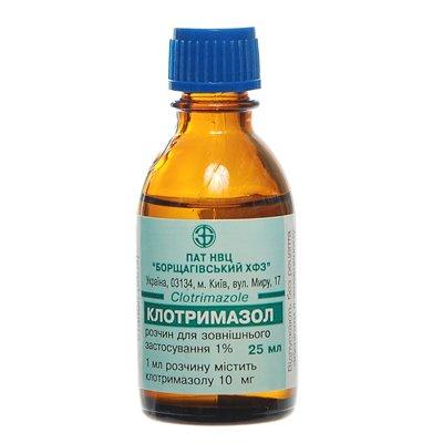 Clotrimazol (clotrimazolum) solution 1% 25 ml.