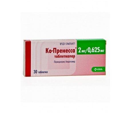 Co-Prenesa (perindopril tert-butylamine, Indapamide) tablets 2 mg/0.625 mg. №30