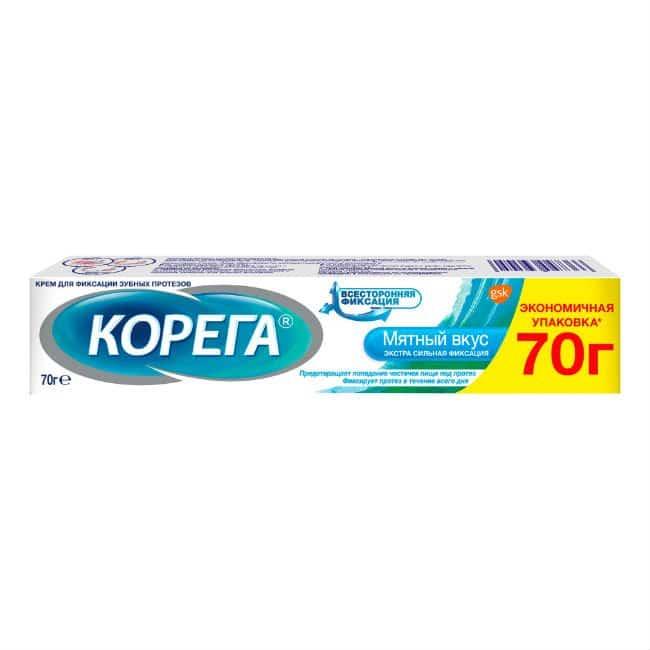 Corega Extra (sodium-magnesium-zinc) fixing cream 70 g.