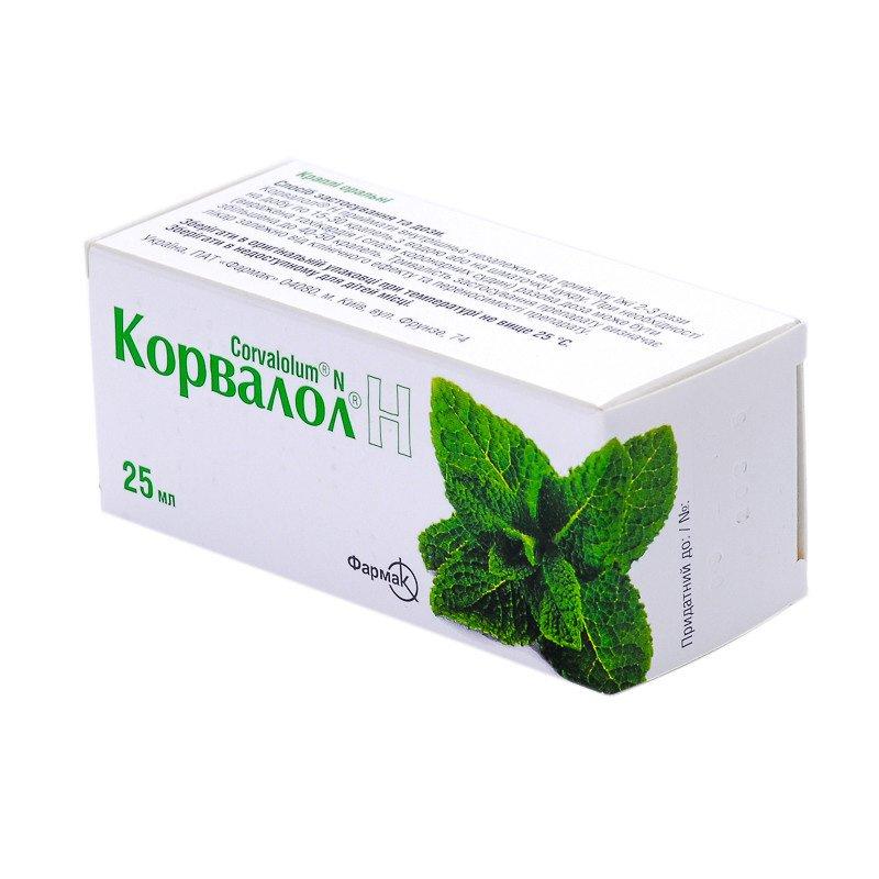 Corvalol N (ethyl alpha-bromsulfaleinovy acid) drops 25 ml.