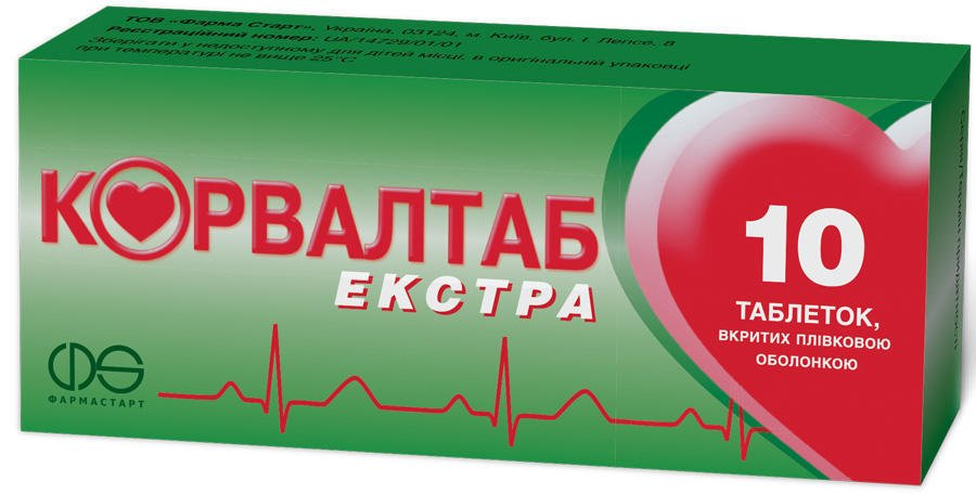 Corvaltab Extra (ethyl a-bromsulfaleinovy acid, phenobarbital, peppermint oil) coated tablets №10