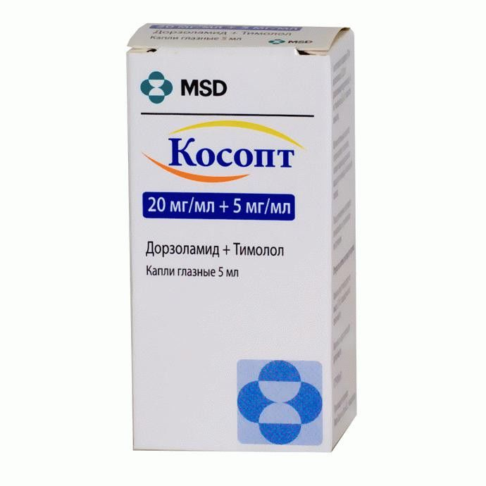 Cosopt (dorzolamide, timolol) eye drops solution 5 ml.