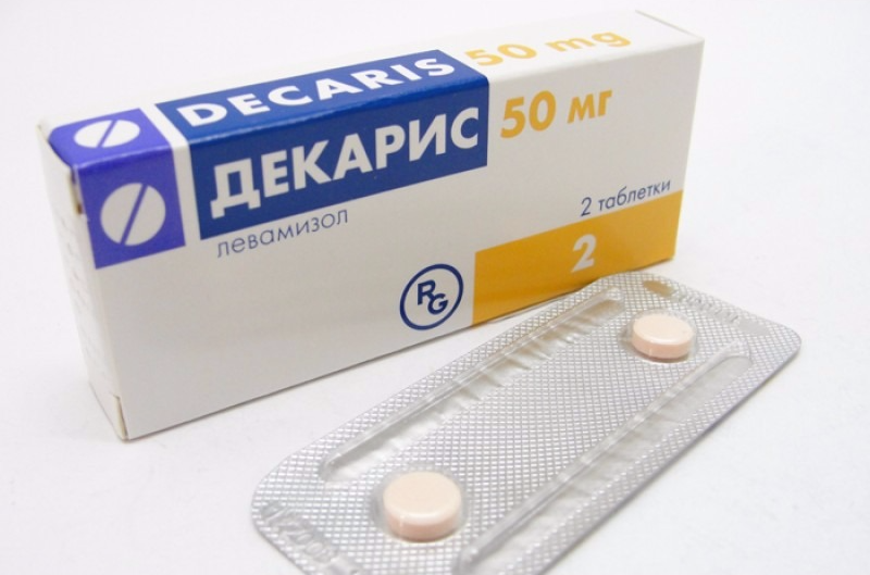 Decaris (levamisole) tablets 50 mg. №2