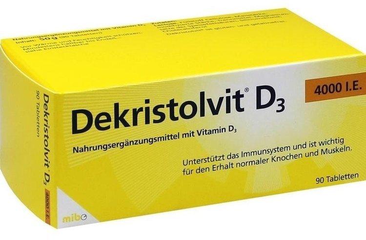 Decristol D3 (vitamin D3) 4000 MO tablets №30