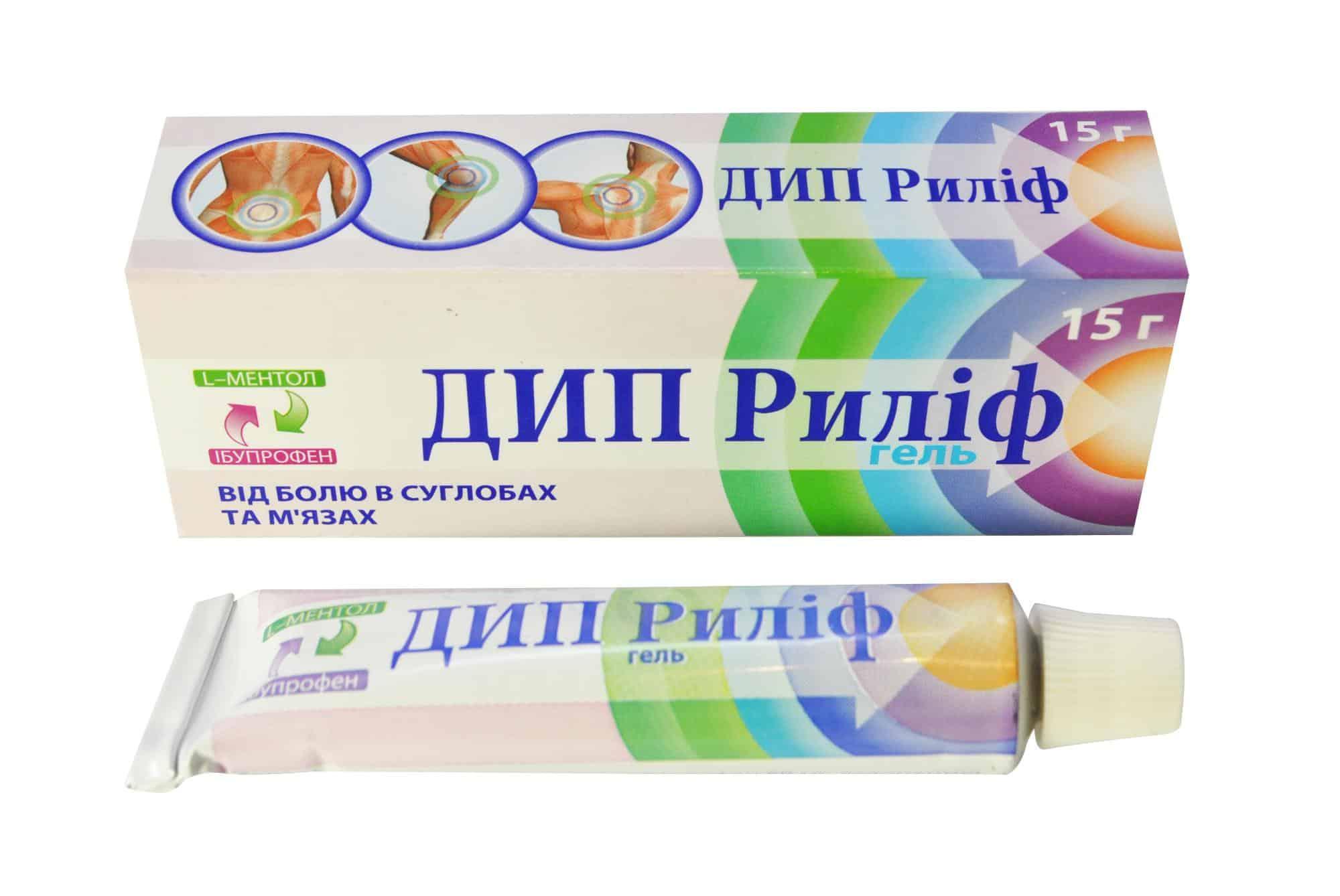 Deep Relief (ibuprofen, levomenthol) gel 15 g.